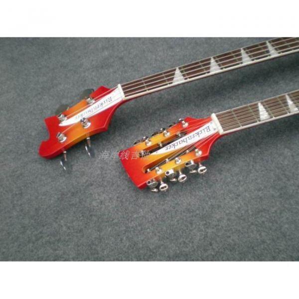 Custom 4003 Double Neck Fireglo 4 String Bass 12 String Guitar #13 image