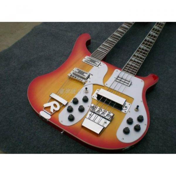 Custom 4003 Double Neck Fireglo 4 String Bass 12 String Guitar #15 image