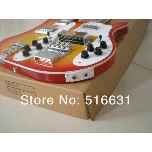 Custom 4003 Double Neck Fireglo 4 String Bass 12 String Guitar #16 image