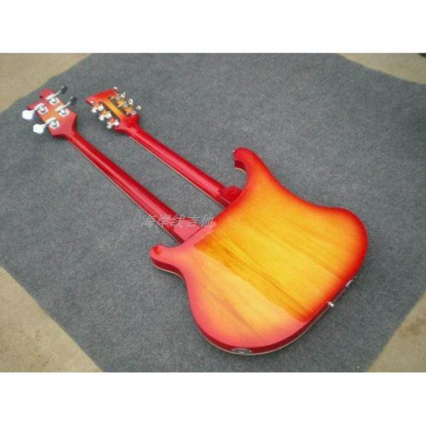 Custom 4003 Double Neck Fireglo 4 String Bass 12 String Guitar #17 image