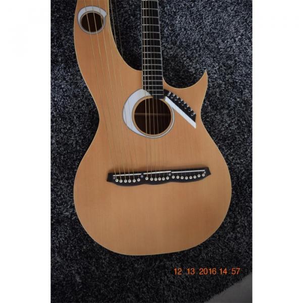 Custom Built 6 6 8 String Acoustic Electric Double Neck Harp Guitar #9 image