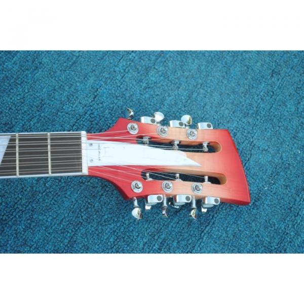 12 Strings Rickenbacker 360  2 Pickups Cherry Burst Electric Guitar #7 image