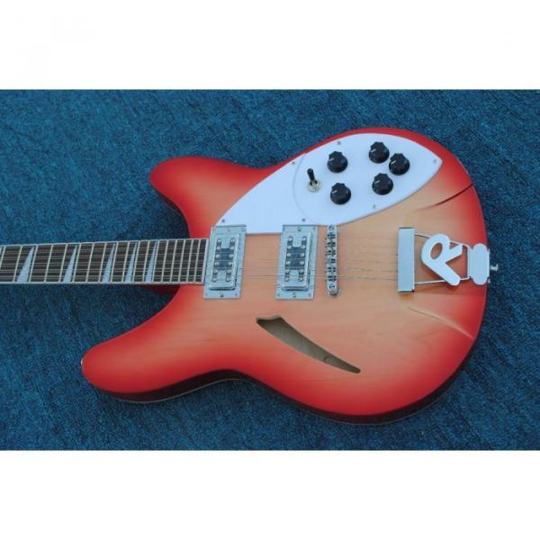 12 Strings Rickenbacker 360  2 Pickups Cherry Burst Electric Guitar #9 image