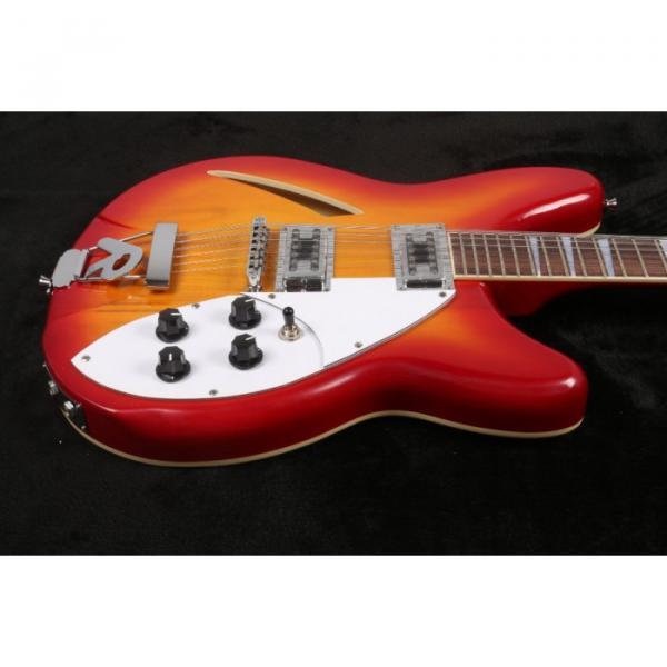 12 Strings Custom 360 2 Pickups Cherry SunBurst Electric Guitar #6 image