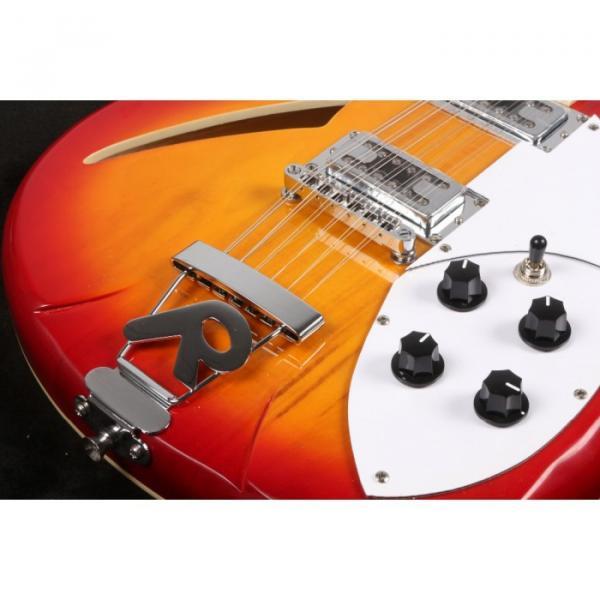 12 Strings Custom 360 2 Pickups Cherry SunBurst Electric Guitar #7 image