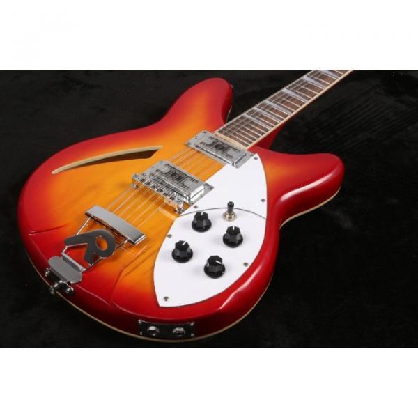 12 Strings Custom 360 2 Pickups Cherry SunBurst Electric Guitar #8 image