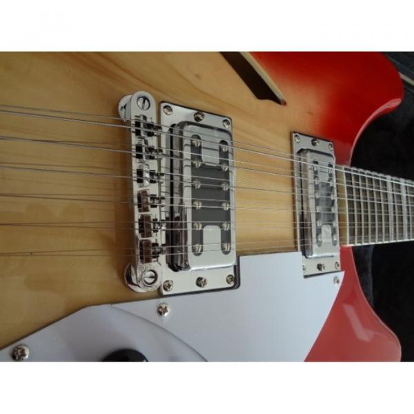 12 Strings Custom 360 2 Pickups Cherry Burst Electric Guitar #7 image