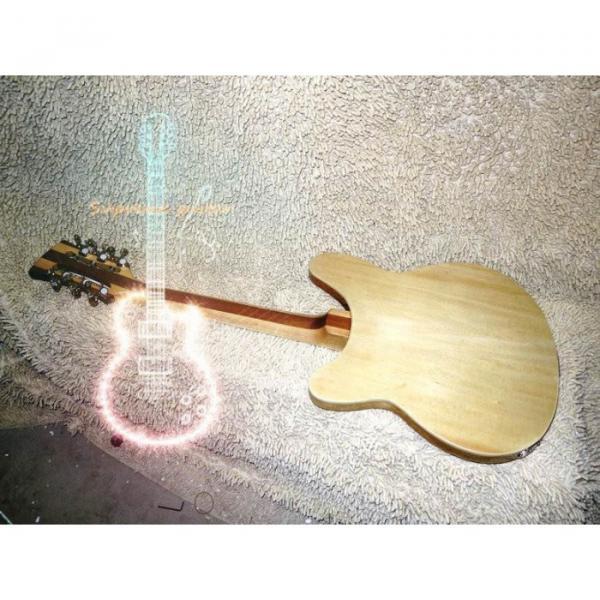 12 Strings Custom 360  3 Pickups Naturalglo Electric Guitar #6 image