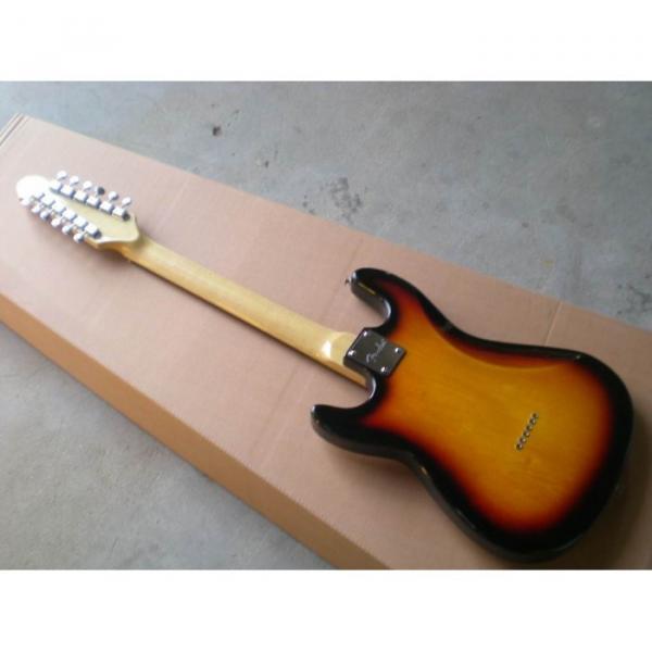 Custom Shop 12 String Stratocaster Sunburst Electric Guitar #6 image