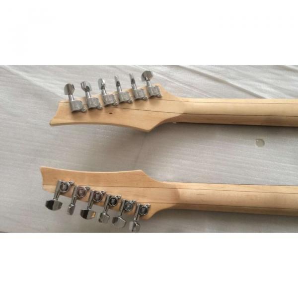 Custom Ibanez JEM 7V Red Double Neck Acoustic Electric 6 12 Strings Guitar #7 image