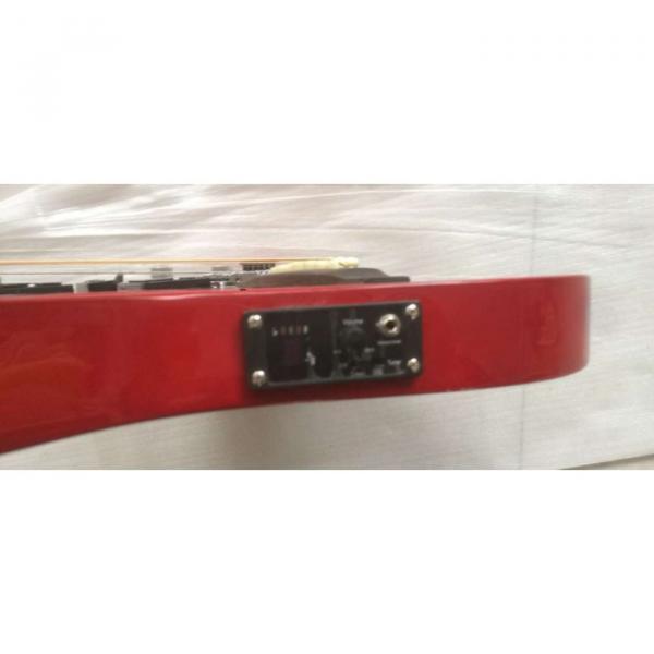Custom Ibanez JEM 7V Red Double Neck Acoustic Electric 6 12 Strings Guitar #8 image