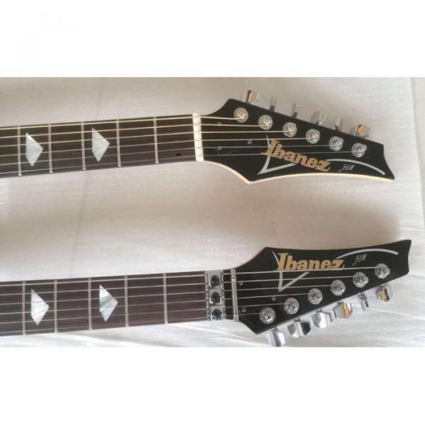 Custom Ibanez JEM 7V Red Double Neck Acoustic Electric 6 12 Strings Guitar #9 image