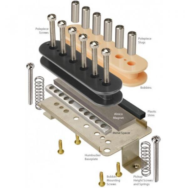 Humbucker Kit With Alnico 2 Magnets And Zebra Bobbins #1 image