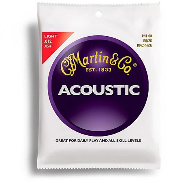 Martin M140 80/20 Bronze Light Acoustic Guitar Strings #1 image