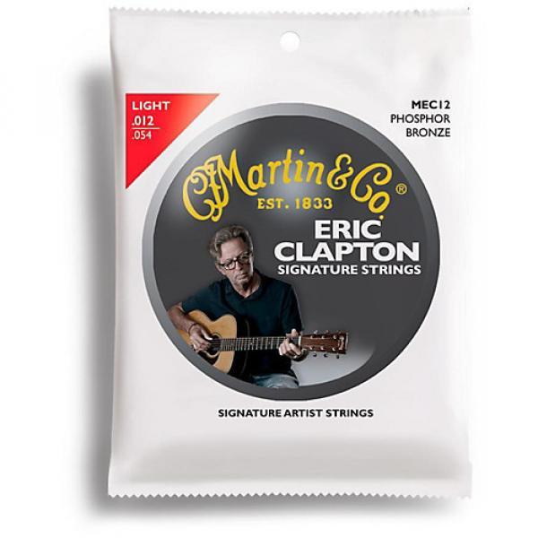 Martin MEC12 Clapton's Choice Phosphor Bronze Light Acoustic Guitar Strings #1 image