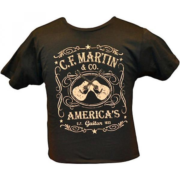 Martin Dual Guitars Vintage T-Shirt Black Medium #1 image