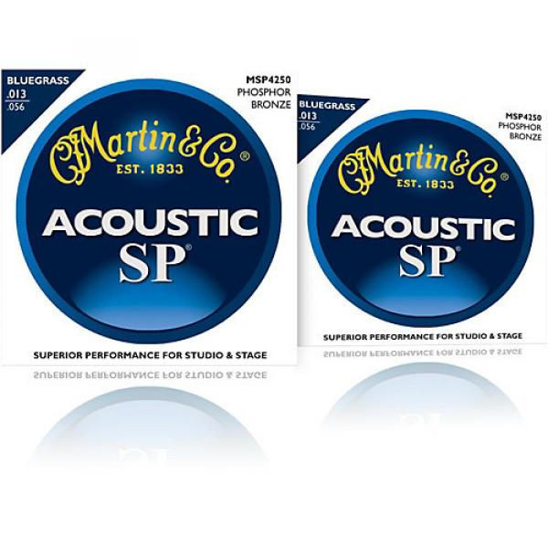 Martin MSP4250 SP Bluegrass Medium 2-Pack Acoustic Guitar Strings #1 image