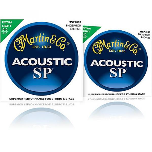 Martin MSP4000 SP Phosphor Bronze Extra Light Acoustic Guitar Strings (2 Pack) #1 image