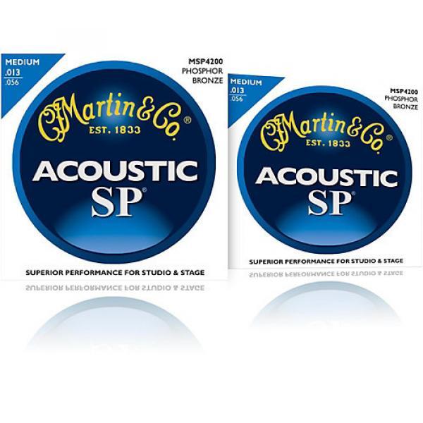 Martin MSP4200 Phosphor Bronze Medium Acoustic Guitar Strings (2 Pack) #1 image
