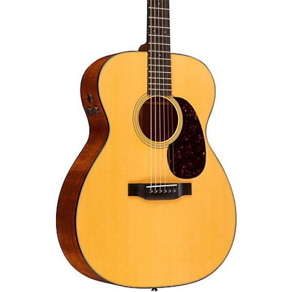 Martin Retro Series 000-18E Auditorium Acoustic-Electric Guitar Natural #1 image