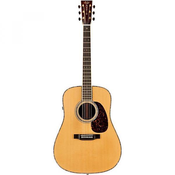 Martin Retro Series D-45E Dreadnought Acoustic-Electric Guitar Natural #1 image