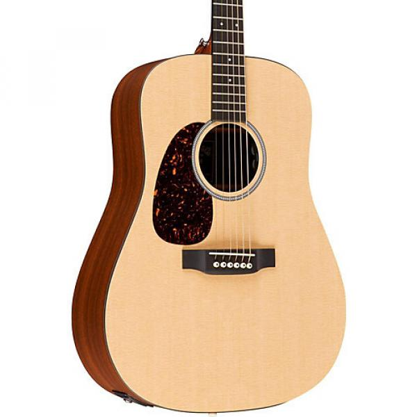 Martin X Series DXMAE-L Dreadnought Left-Handed Acoustic-Electric Guitar Natural #1 image