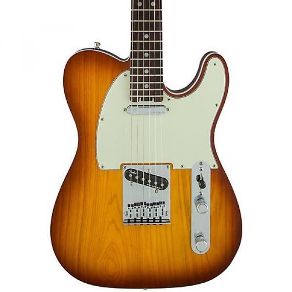 Fender American Elite Telecaster Rosewood Fingerboard Electric Guitar Tobacco Sunburst #1 image
