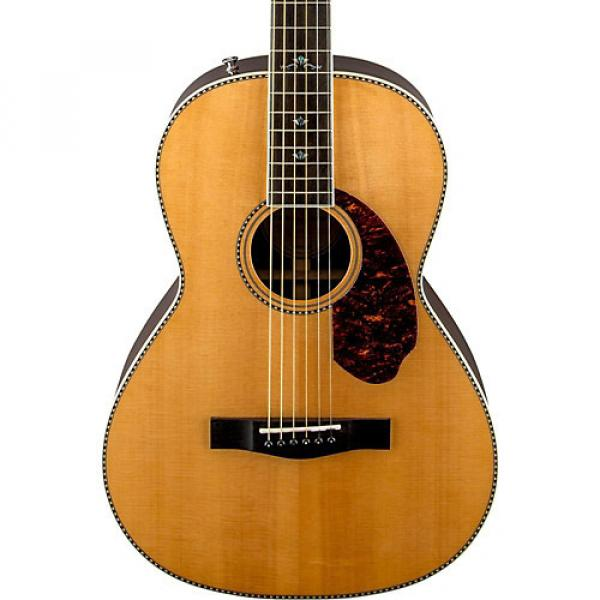 Fender Paramount Series PM-2 Deluxe Parlor Acoustic-Electric Guitar Natural #1 image