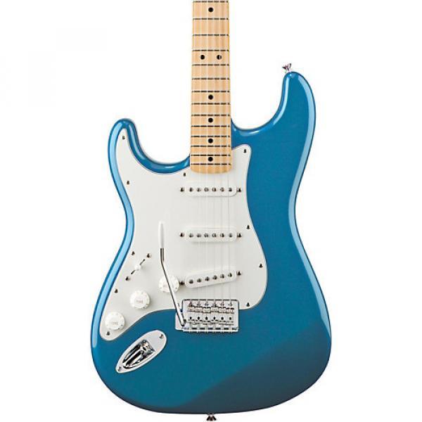 Fender Standard Stratocaster Left Handed  Electric Guitar Lake Placid Blue Gloss Maple Fretboard #1 image