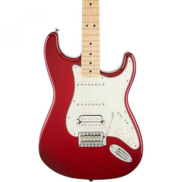 Fender Standard Stratocaster HSS Electric Guitar Candy Apple Red Gloss Maple Fretboard #1 image