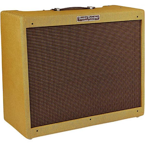 Fender '57 Custom Twin 40W 2x12 Tube Guitar Amp Lacquered Tweed #1 image