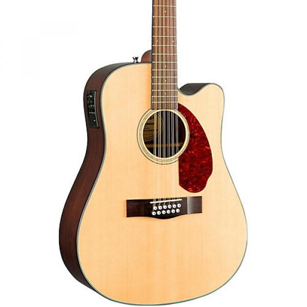 Fender Classic Design Series CD-140SCE Mahogany Cutaway Dreadnought 12-String Acoustic-Electric Guitar Natural #1 image