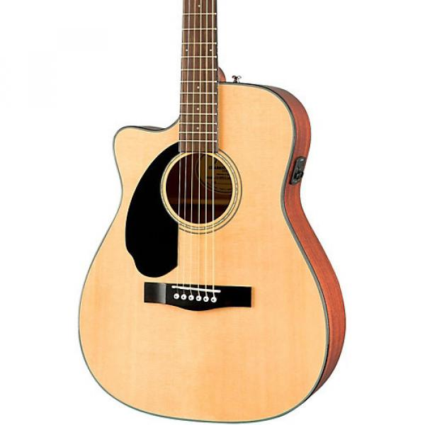Fender Classic Design Series CC-60SCE Cutaway Concert Left-Handed Acoustic-Electric Guitar Natural #1 image