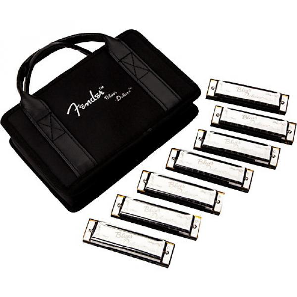 Fender Blues Deluxe Harmonica Set (7-Pack with Case, Keys of C, G, A, D, F, E and Bb) #1 image