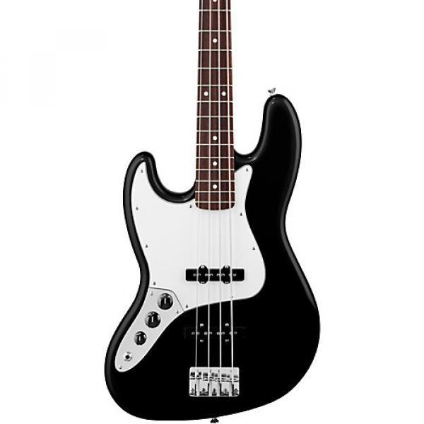 Fender Standard Left-Handed Jazz Bass Guitar with Rosewood Fretboard Black Rosewood Fretboard #1 image