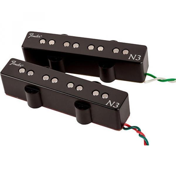 Fender N3 Noiseless Jazz Bass Pickups Set of 2 Black Covers #1 image
