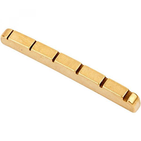Fender Stratocaster/Telecaster Pre-Slotted Brass String Nut #1 image