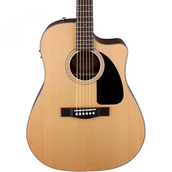 Fender Classic Design Series CD-100CE Cutaway Dreadnought Acoustic-Electric Guitar Natural #1 image