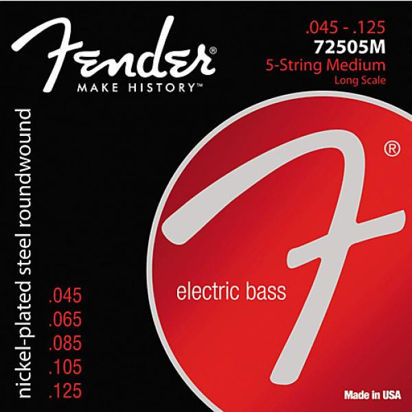 Fender 7250-5M Super Bass Nickel-Plated Steel Long Scale 5-String Bass Strings - Medium #1 image