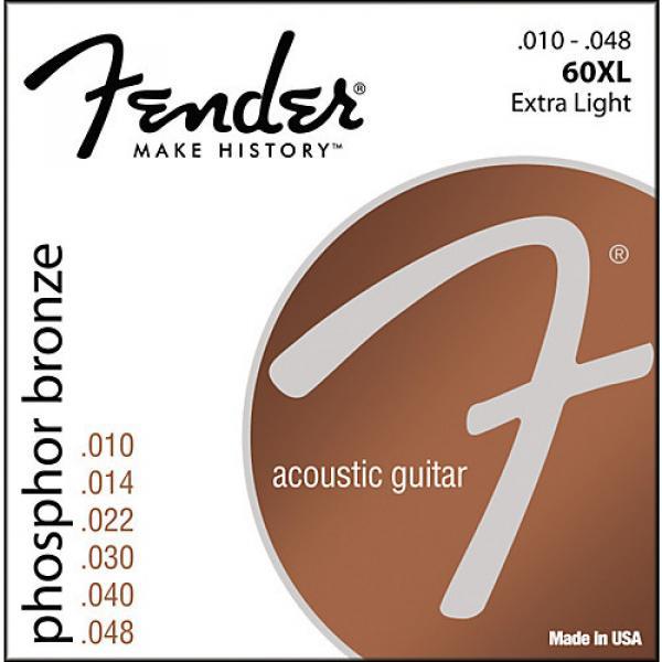 Fender 60XL Phosphor Bronze Acoustic Strings - Extra Light #1 image