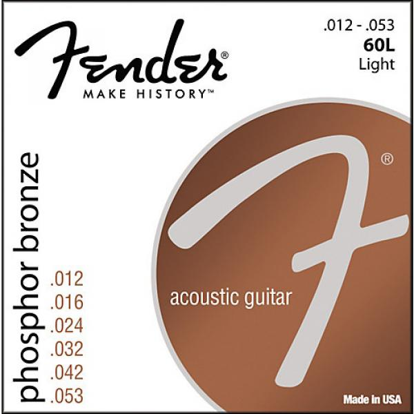 Fender 60L Phosphor Bronze Acoustic Strings - Light #1 image