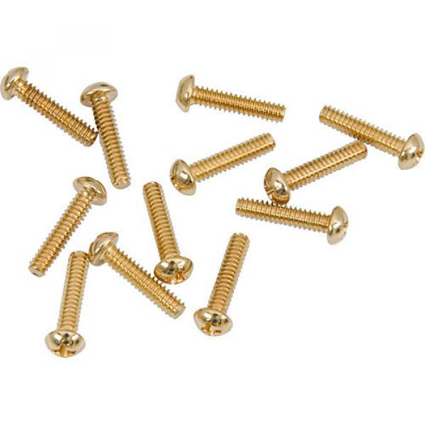 Fender Gold Pickup/Switch Screws (12) #1 image