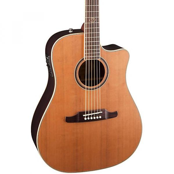 Fender F-1030SCE Cutaway Dreadnought Acoustic-Electric Guitar Natural #1 image