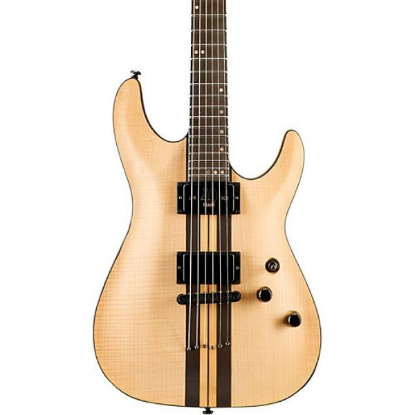 Schecter Guitar Research C-1 Flamed Maple 40th Anniversary Electric Guitar Natural Pearl #1 image
