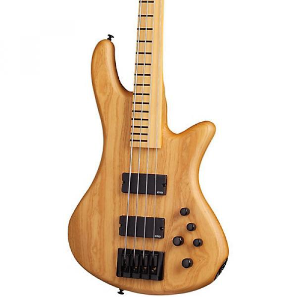 Schecter Guitar Research Stiletto Session-4 Fretless Electric Bass Satin Aged Natural #1 image