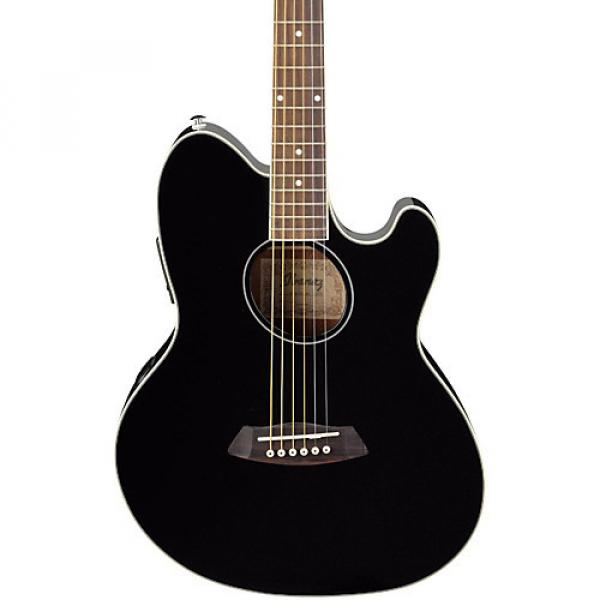 Ibanez Talman TCY10 Acoustic-Electric Guitar Black #1 image