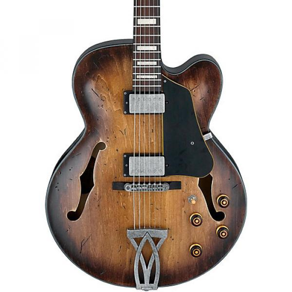 Ibanez Artcore Vintage Series AFV10A Hollowbody Electric Guitar Tobacco Burst Low Gloss #1 image