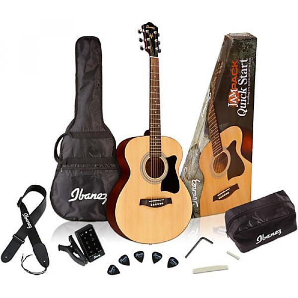 Ibanez IJVC50 Jampack Grand Concert Acoustic Guitar Pack Natural #1 image