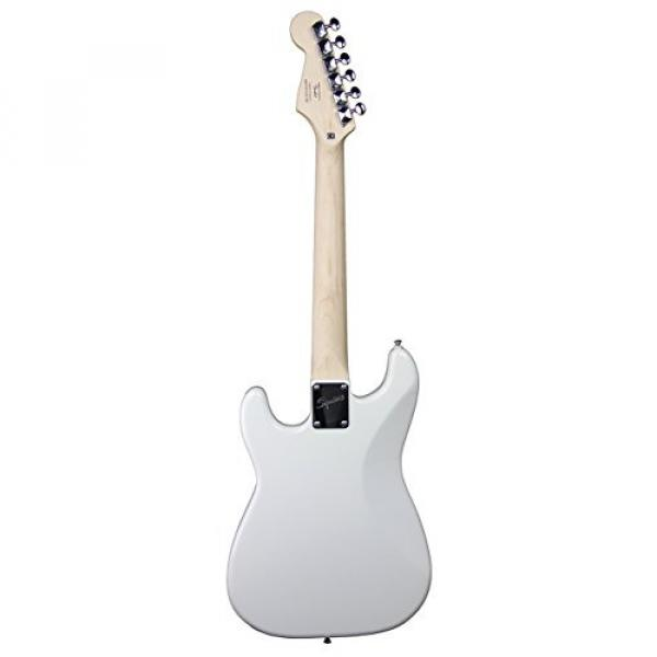 Squier by Fender Mini Strat Electric Guitar Bundle with Amplifier, Cable, Tuner, Strap, Picks, Austin Bazaar Instructional DVD, and Polishing Cloth - Arctic White #4 image