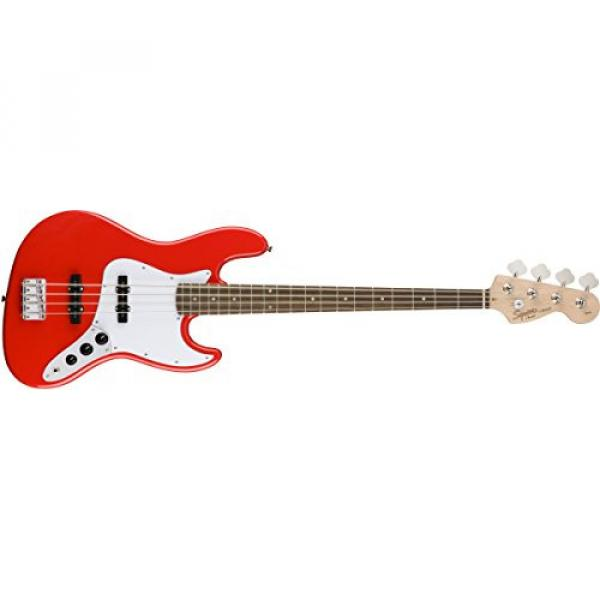 Squier by Fender Affinity Jazz Beginner Electric Bass Guitar - Rosewood Fingerboard, Race Red #1 image